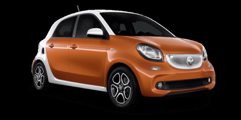 Mietwagen Smart Forfour Automatik - Autovermietung Fuerteventura. Red Line Rent a Car.